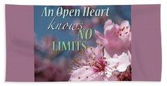 An Open Heart Knows No Limits Beach Sheet