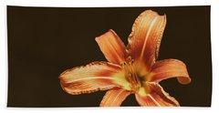 An Orange Lily Beach Towel