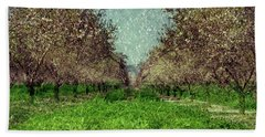 An Orchard In Blossom In The Eila Valley Beach Sheet