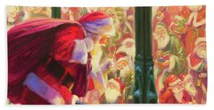 Beach Towel featuring the painting An Unforeseen Encounter by Steve Henderson