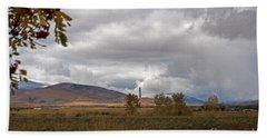Anaconda Smelter Stack Beach Towel by Cindy Murphy - NightVisions