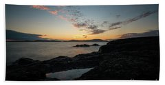 Anacortes Tidepool Sky Window Beach Towel by Mike Reid