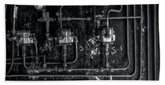 Beach Towel featuring the photograph Analog Motherboard 2 by James Aiken