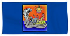 Anantha Sayanam-patta Chitra Style Beach Towel