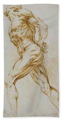 Anatomical Study Beach Towel by Rubens