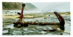 Beach Towel featuring the photograph Anchor At Rest by Angela DeFrias