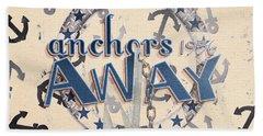 Anchors Away 1956 Beach Towel