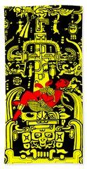 Ancient Astronaut Yellow And Red Version Beach Towel