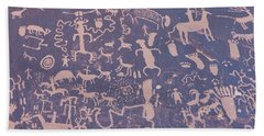Ancient Carvings Beach Towel