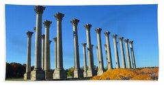 Ancient Corinthian Columns  Beach Towel
