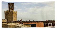 Ancient Moorish Citadel In Badajoz, Spain Beach Towel