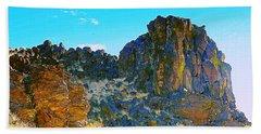 Ancient Oregon Landscapes Beach Sheet by Steve Warnstaff