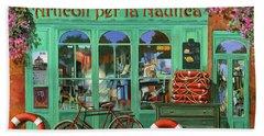 Ancora Una Bicicletta Rossa Beach Towel by Guido Borelli