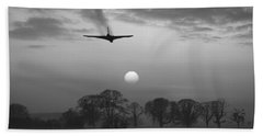 And Finally Black And White Version Beach Towel