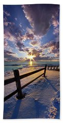 Beach Sheet featuring the photograph And I Will Give You Rest. by Phil Koch
