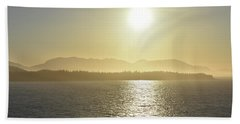 And The Sun Goes Down Beach Towel