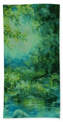 And Time Stood Still Beach Towel