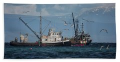 Beach Towel featuring the photograph Kornat And Western Investor by Randy Hall