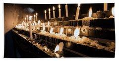 Andechs Prayer Candles Beach Towel