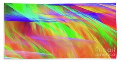 Beach Towel featuring the digital art Andee Design Abstract 11 2018 by Andee Design