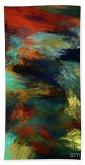 Beach Towel featuring the digital art Andee Design Abstract 14 2018 by Andee Design