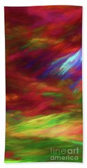 Beach Towel featuring the digital art Andee Design Abstract 18 2018 by Andee Design