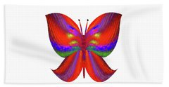 Beach Towel featuring the digital art Andee Design Abstract 2 2015 by Andee Design