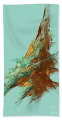 Beach Towel featuring the digital art Andee Design Abstract 22 2018 by Andee Design