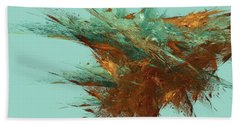 Beach Towel featuring the digital art Andee Design Abstract 23 2018 by Andee Design