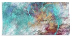 Beach Towel featuring the digital art Andee Design Abstract 4 2015 by Andee Design