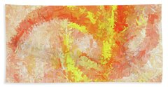 Beach Towel featuring the digital art Andee Design Abstract 4 2018 by Andee Design