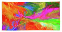Beach Towel featuring the digital art Andee Design Abstract 5 2015 by Andee Design