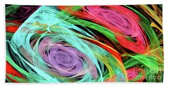 Beach Towel featuring the digital art Andee Design Abstract 7 2015 by Andee Design