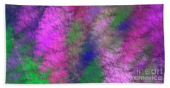 Beach Towel featuring the digital art Andee Design Abstract 7 2018 by Andee Design