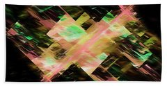 Beach Towel featuring the digital art Andee Design Abstract 87 2017 by Andee Design