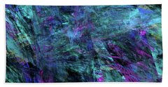 Beach Sheet featuring the digital art Andee Design Abstract 9 2017 by Andee Design