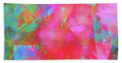 Beach Towel featuring the digital art Andee Design Abstract 92 2017 by Andee Design