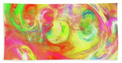 Beach Towel featuring the digital art Andee Design Abstract 95 2017 by Andee Design