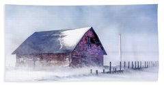 Beach Towel featuring the painting Anderson Dock Winter Storm by Christopher Arndt