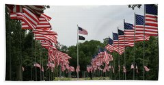 Andersonville National Cemetery Beach Towel by Jerry Battle