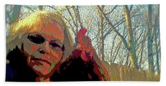 Andy And Me Beach Towel by Donna Brown
