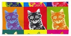 Andy Warhol Cat Beach Towel