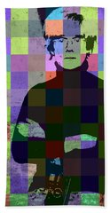 Andy Warhol Hollywood Pop Art Patchwork Portrait Pop Of Color Beach Towel