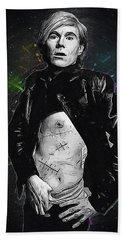 Andy Warhol Beach Sheet by Semih Yurdabak