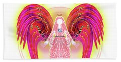 Beach Sheet featuring the digital art Angel #199 by Barbara Tristan
