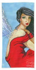 Angel Among Us Beach Towel