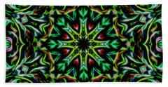 Beach Towel featuring the digital art Angel Chaos Abstract by Aliceann Carlton