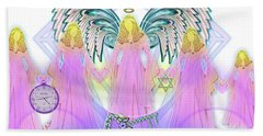 Beach Towel featuring the digital art Angel Cousins #198 by Barbara Tristan