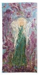 Angel Draped In Hydrangeas Beach Towel