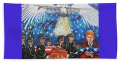 Angel Flight Beach Towel